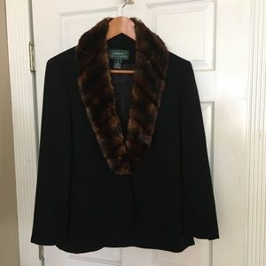 Lauren Ralph Lauren Wool and faux fur jacket